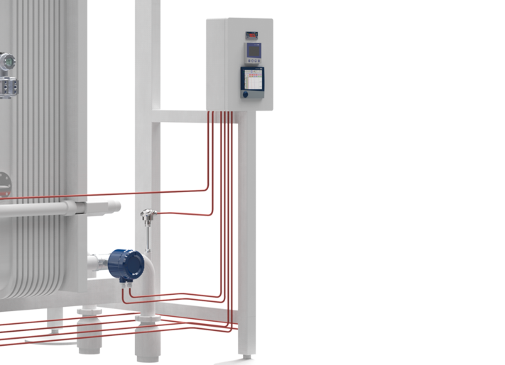 Temperature monitoring of the cooling water