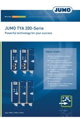 Brochure JUMO TYA 200 Series