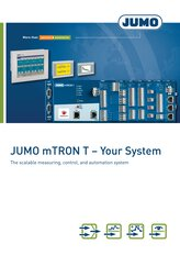 Brochure JUMO mTRON T Measuring, control and automation system
