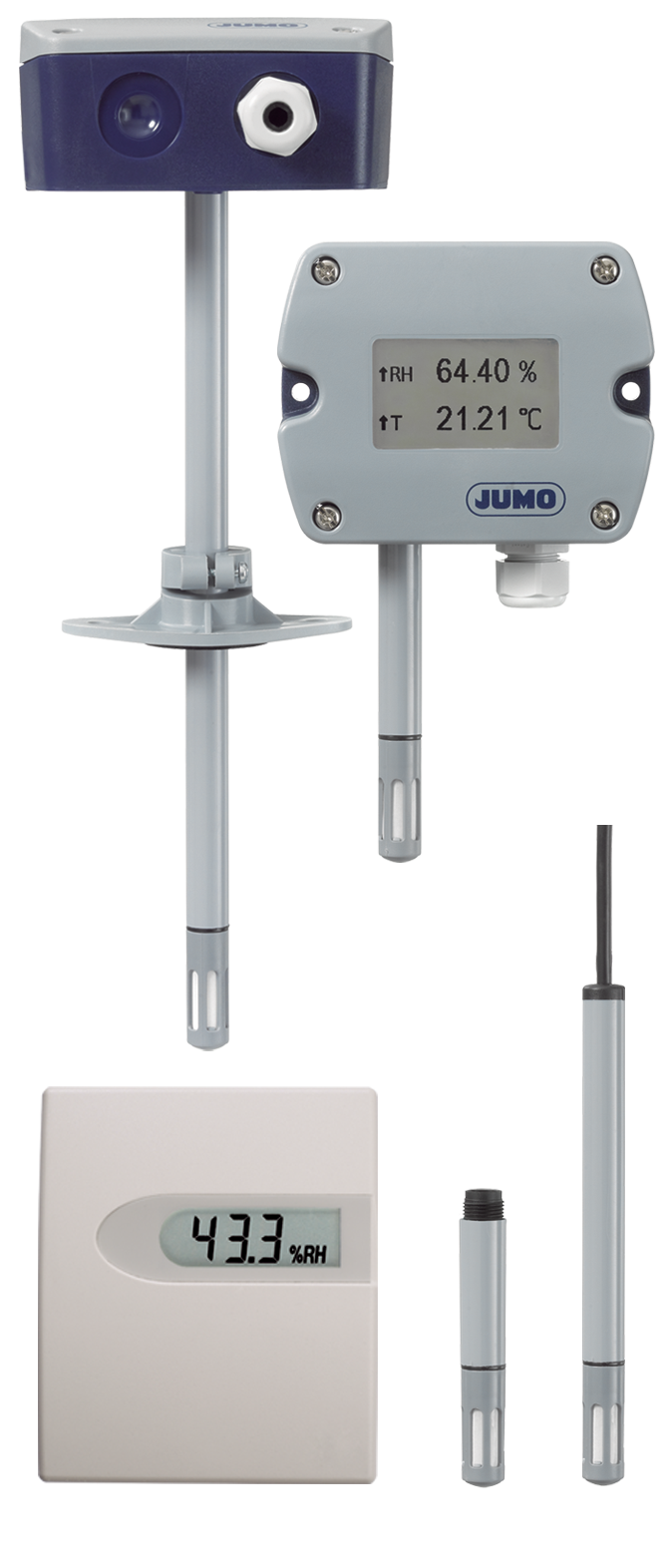 Hygro transducer, hygrothermal transducer, and CO2 measuring probe