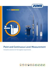 Broschyr mätning av punkt och kontinuerlig nivå