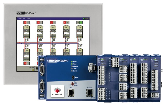 JUMO mTRON T Measurement, control and automation system with HMI