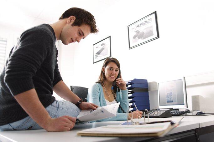 Industriekaufleute in der Ausbildung