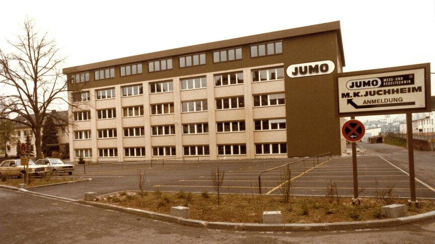 Neues Nebengebäude von JUMO Fulda 1985