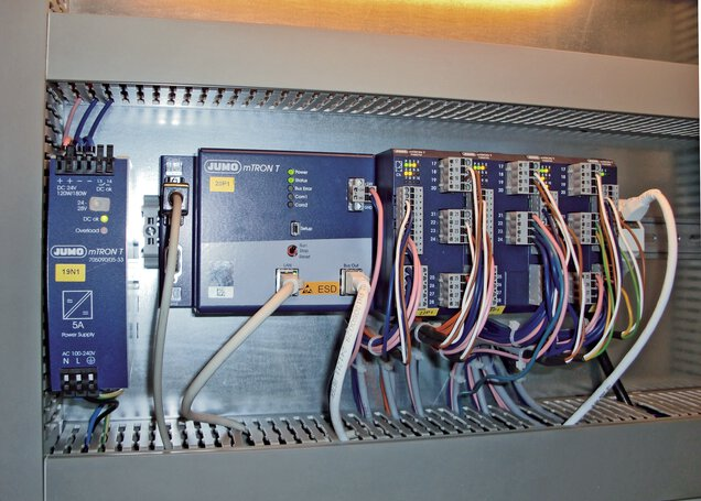 Installation situation of the JUMO mTRON T