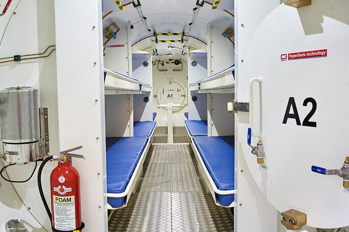 Hyperbaric chamber for tunnel boring machines © IHC Hytech B.V.