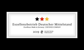 Exzellenzbetrieb Deutscher Mittelstand 2019