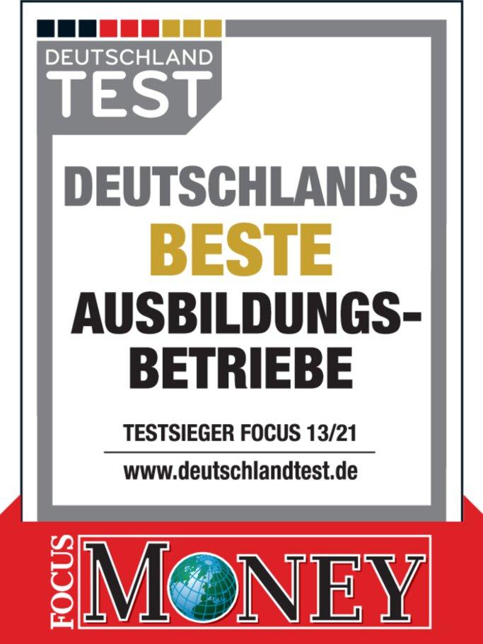 Auszeichnung Deutschlands beste Ausbildungsbetriebe – Deutschland-Test / FOCUS 13/21