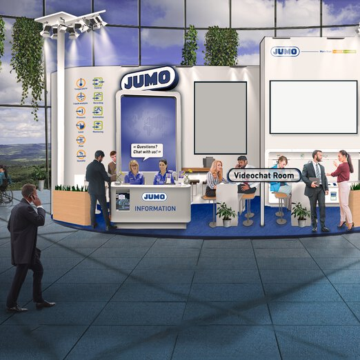 virtual fair booth of JUMO