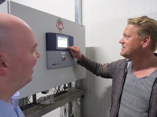 Arjan Rood van KaRO (rechts) en Jan Bultman van JUMO (links)
