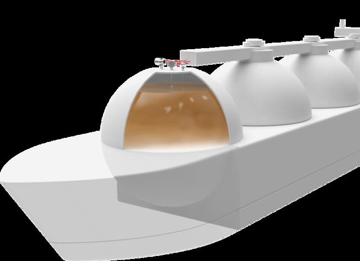 Darstellung eines Tankschiffs mit Messtechnik