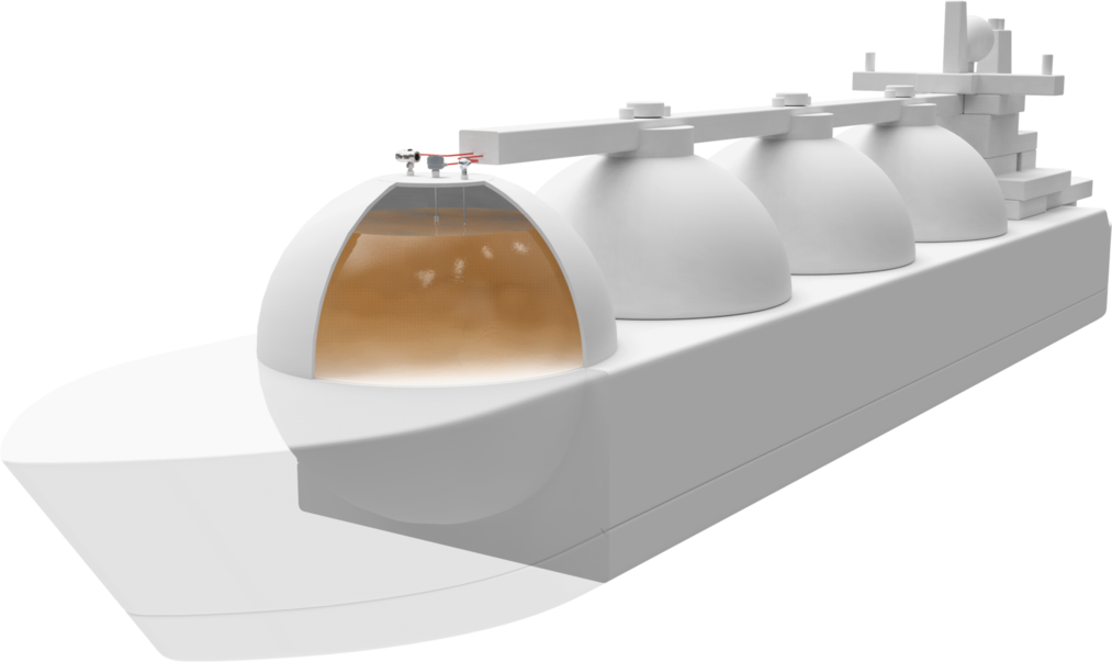 Tankowiec zbiorniki na gaz i ropę naftową