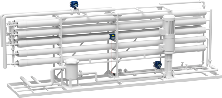Pressure measurement in the filtration plant