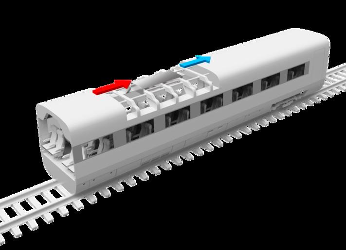 Klimaanlage in der Bahn